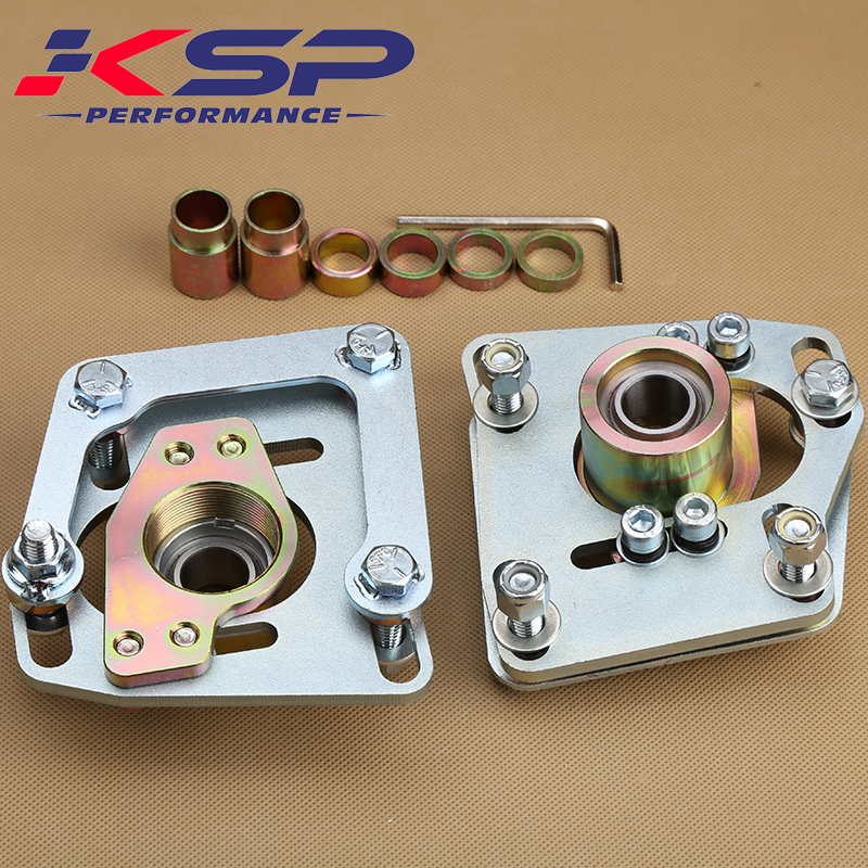 Kingsun Adjustable 4 Bolts Front Camber Caster Alignment Top Strut Mounting Plate For Ford Mustang 94 04