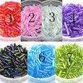 De! 2 * 6 MM 60 G / 1440 Pcs colorido sementes checa vidro Bugle Beads jóias acessórios