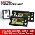 "Home 7"" TFT LCD Monitor Wireless Video Door phone Doorbell IR Camera with 3pcs 7""monitors/wireless doorbell with video"