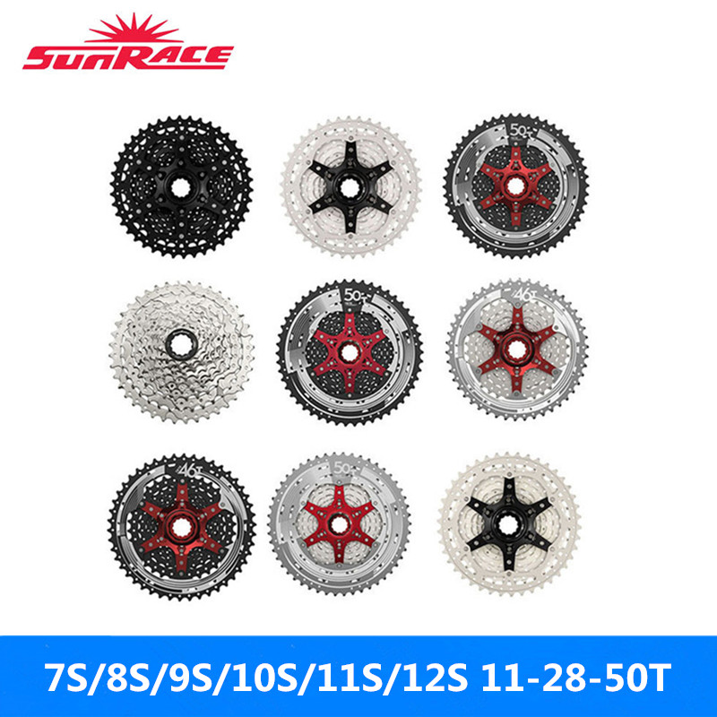 Sunrace Flywheels Silver 11-28T/11-50T Mountain-Bike Black Of 11S/12S Full-Range Brand-New