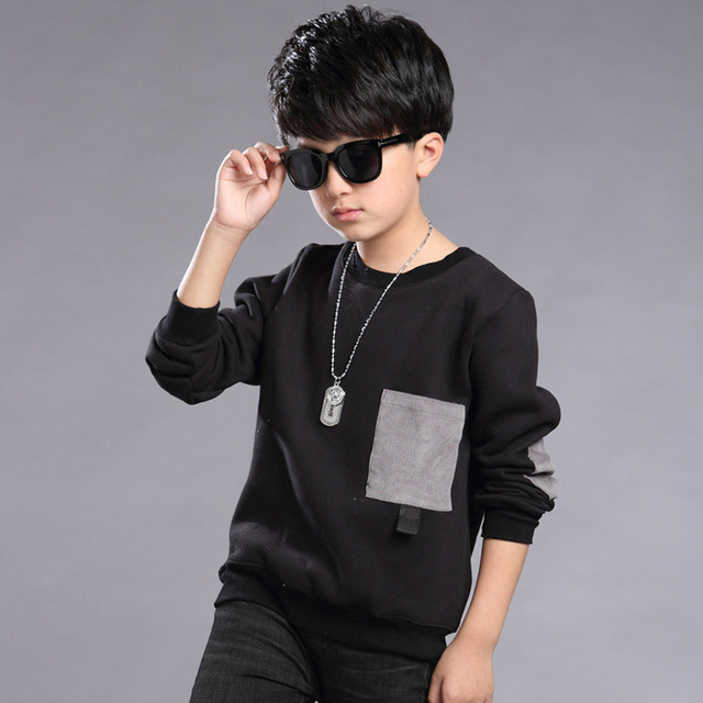New Children shirts For Boys Spring Autumn 2017 Fashion Long-sleeves Cotton Kids Clothes Casual O-neck Boys Tops Tees Clothing
