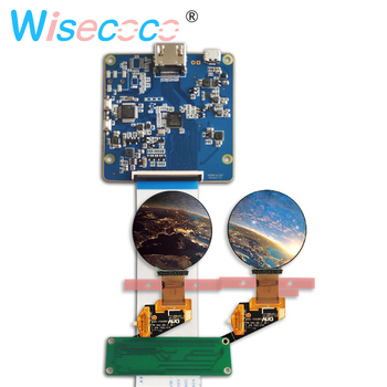 400*400 1.39 inch round AMOLED screen display panel 350 brightness with hdmi to mipi driver board