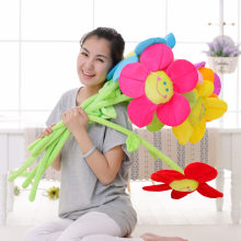Plush toy bouquet cartoon smiling sunflower curtain buckle sunflower baby bed to hang the wedding gift(China)