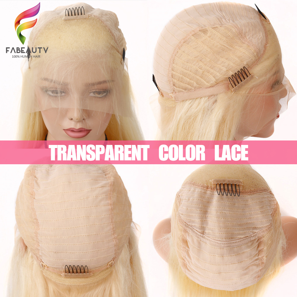 Glueless #613 Blonde Lace Front Human Hair Wigs Brazilian Body Wave 13*4 Lace Front Wig Pre Plucked Honey Blonde Remy Lace Wigs