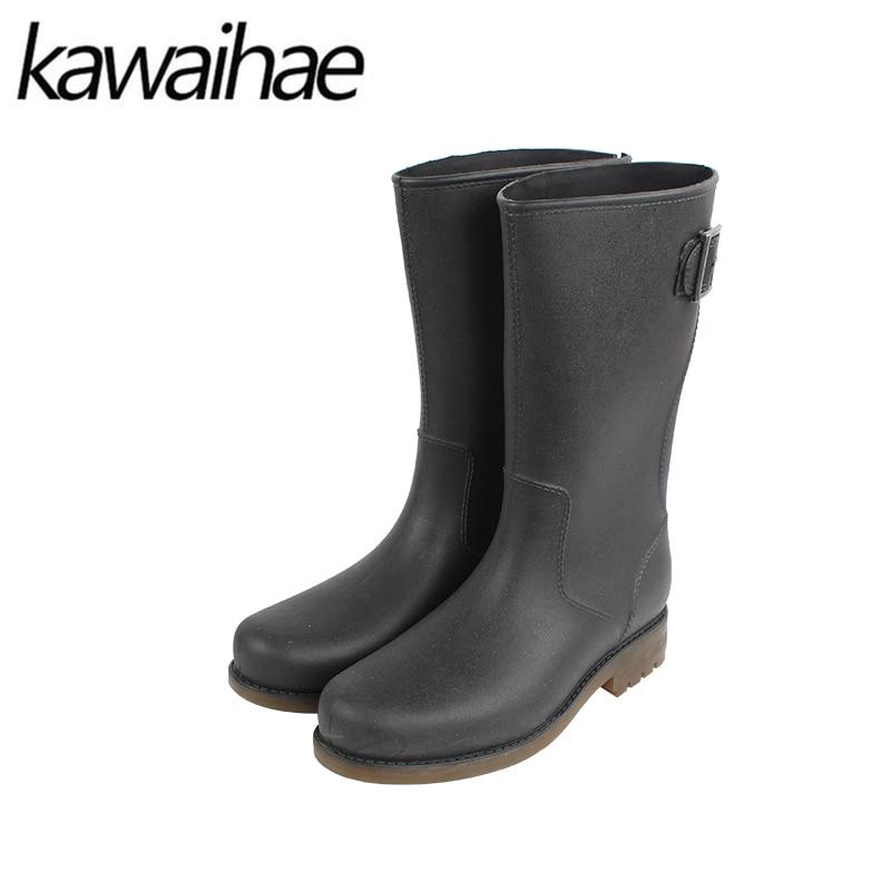 2017 Autumn Winter Men Boots Rubber Boots Rain Shoes Waterproof Chelsea Brand Kawaihae 004