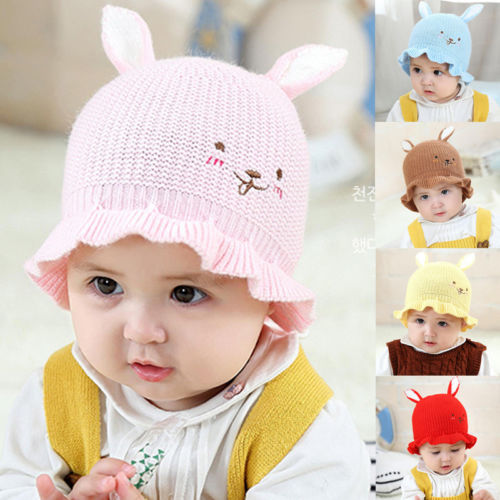 New Lovely Toddler Kids Baby Warm Knitting Wool Cashmere Hat Beanie Cap  Warmer Bunny With Ear Cute Hats Caps-in Hats   Caps from Mother   Kids on  ... ddd5fbd92e1