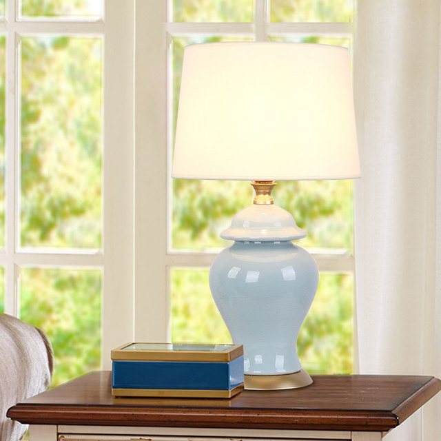 Modern Ceramic Table Lamp Bedside Porcelain Lamp Living