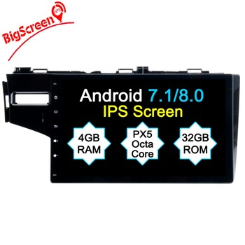 4G RAM Octa(8)-Core Android 8.0 CAR player FOR HONDA Fit 2012-2014 car audio gps stereo head unit Multimedia navigation no dvd image