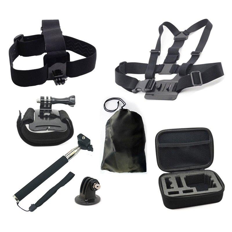 Camera Action Accessoires Pour Gopro Casque Harnais Poitrine Ceinture Tête mont Strap Manfrotto Pour SJCAM SJ4000 SJ5000X Elite EKEN H9 Yi