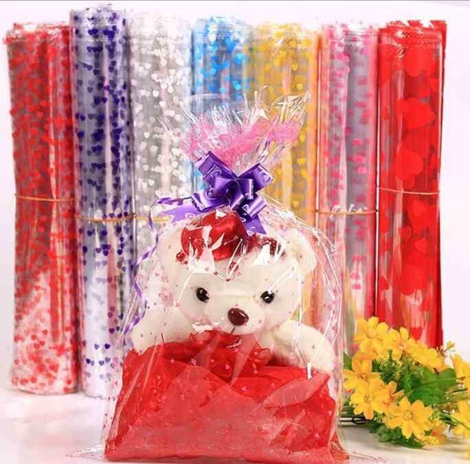 100pcs 4 Sizes Large Plastic Gift Package Bag Plastic Doll Packaging Bag Clear Cellophane Bag Bakery Christmas Gift Packing Bag