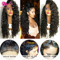 Cheap Afro Kinky Curly Wigs For Black Woman Synthetic Lace Front Wigs With Baby Hair Black African American Synthetic Curly Wigs