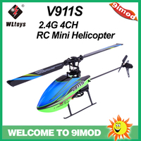Original WLtoys V911S 2.4G 4CH 6 Aixs Gyro Single Blade Flybarless RC Mini Helicopter