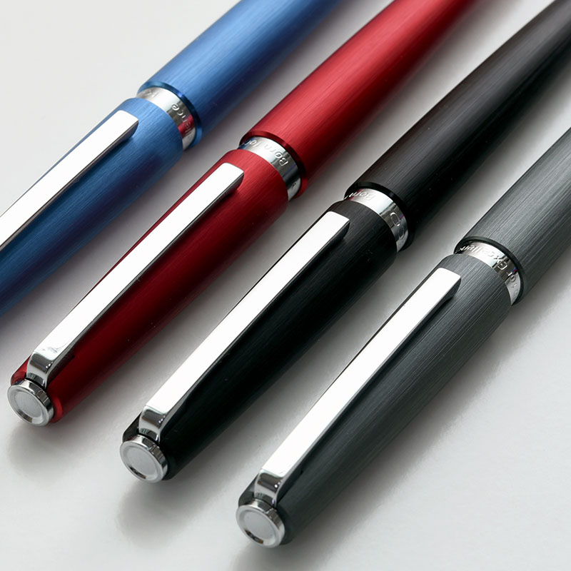 Luxury Metal Wire-drawing Rollerball Pen with Silver Clip KACO BALANCE Black Ink Smooth Writing Sign Ballpoint Pens Gift Box 1pcs jinhao 163 dark blue and silver clip 0 7mm rollerball pen luxury metal ballpoint pens for writing office christmas gift