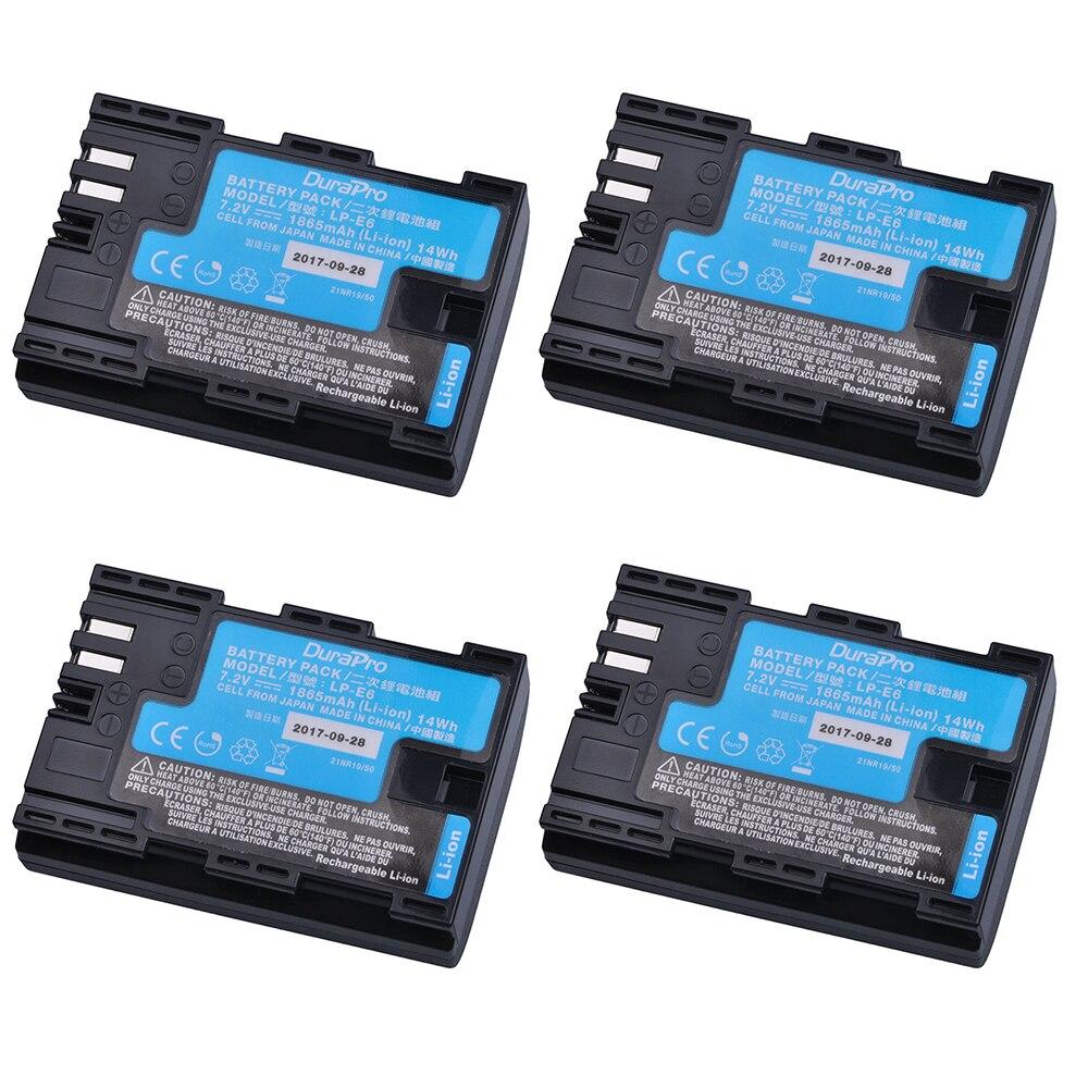 4 pz LP-E6 LP-E6N LP E6 Batterie per Foto/Videocamera fatto Con Il Giappone Celle Per canon LP-E6 eos 5DS 5D MARK Ii, mark III 6D 7D 60D 60Da 70D 80D