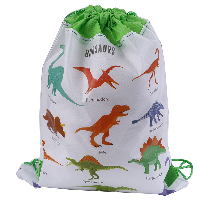 5PCS Cute Cartoon Dinosaur Drawstring Bags Kids Drawstring Backpack Baby Clothes Clothings Children Organizer Pouch Laundry Bag