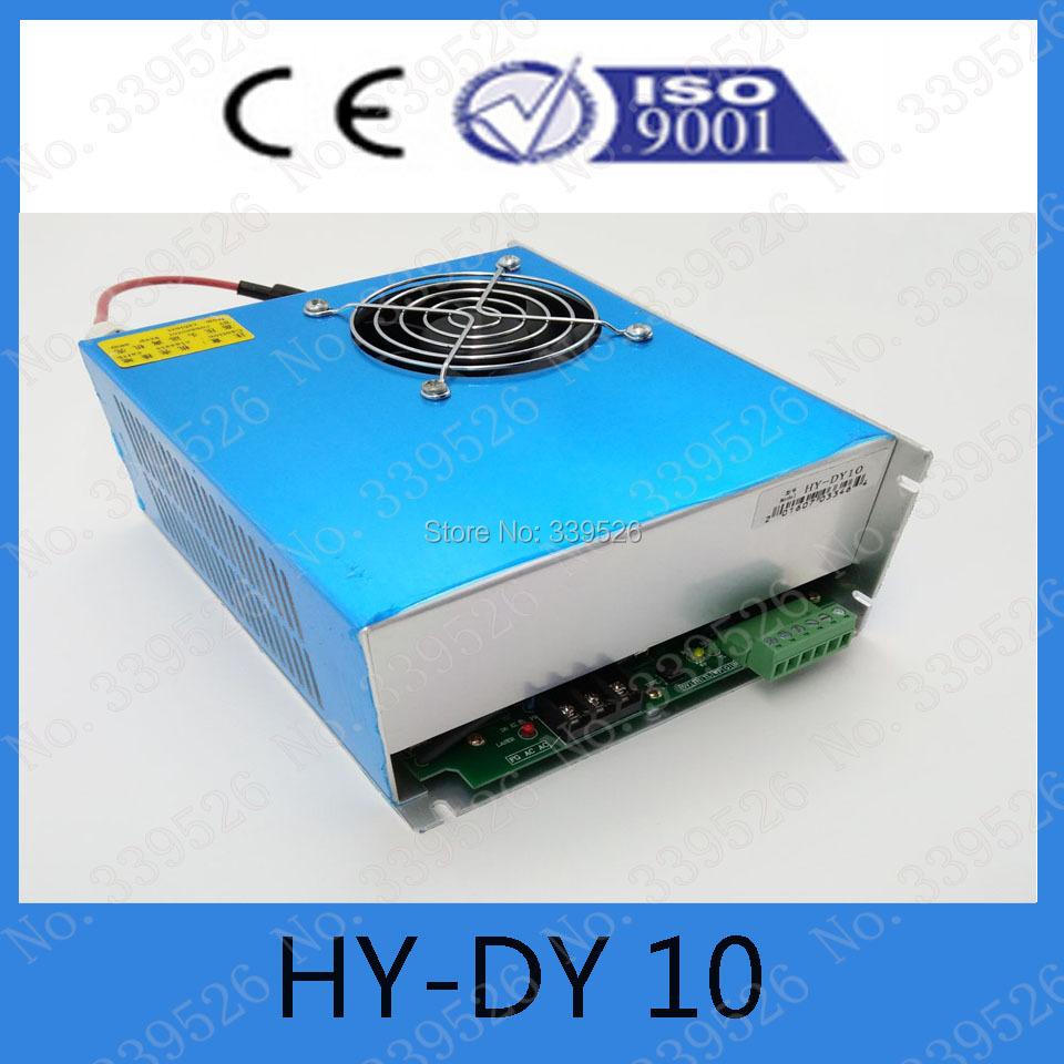 high quality co2 laser power supply dy10 for reci tube 80w 1150mm length high voltage flyback transformer hy a 2 use for co2 laser power supply