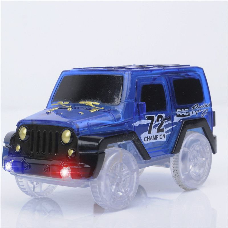 Electronics Race Car Toys LED Flashing Lights Educational Toys For Children Boys Birthday Gift Boy Play Magic Together Track