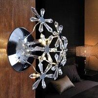 Moderne Einfachheit K9 Kristall Wandleuchten Wohnzimmer Restaurant Schlafzimmer Nachttischlampen Treppen Flur Leuchten WL192