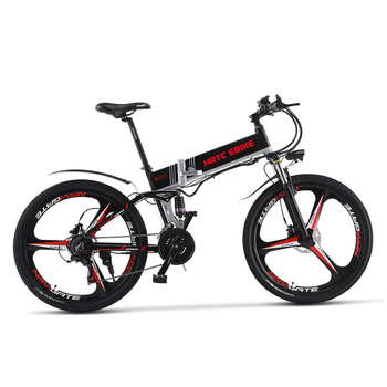 26inch electric mountain bike 48V 816Wh lithium battery hidden frame 500w high speed motor Fold frame Soft tail Hydraulic ebike mountain bike fat 48v 500w samsung lithium battery electric bicycle 10 an large capacity 27 speed 26 x 4 0 electric snow bike