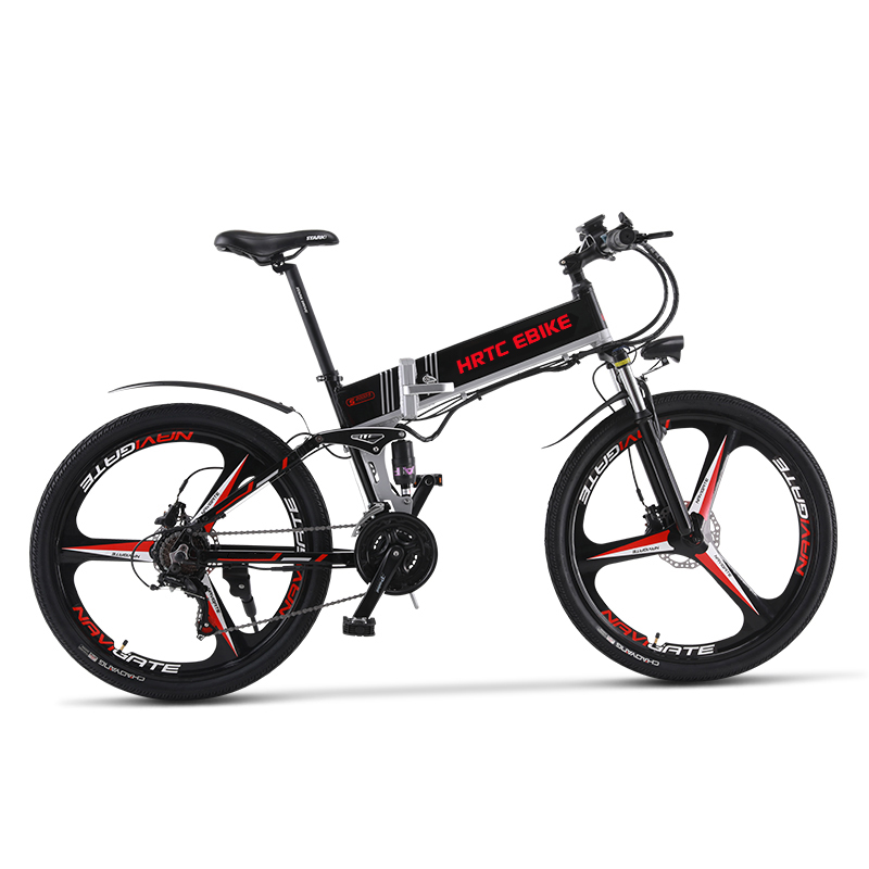 26inch electric mountain bike 48V lithium battery hidden frame 500w high speed motor max speed 42km/h Soft tail Hydraulic ebike|Electric Bicycle| |  - title=