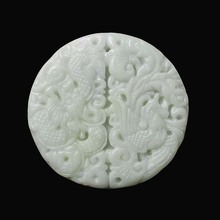 Natural LanTian Jade hand-carved jade Dragon pendant jewelry necklace fashion lovers S2065