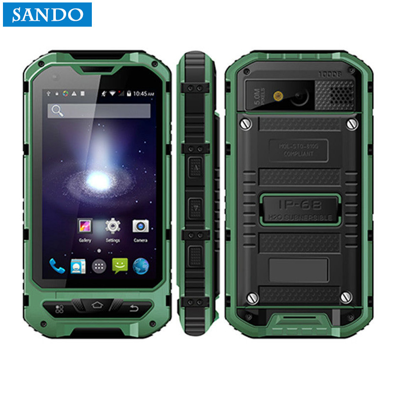 3-proof A8 IP68 A9 V9 Waterproof Shockproof Rugged  Mobile Phone MTK6582 Quad Core WCDMA 1G RAM 8G  Android 4.4 3G OEM ODM NFC