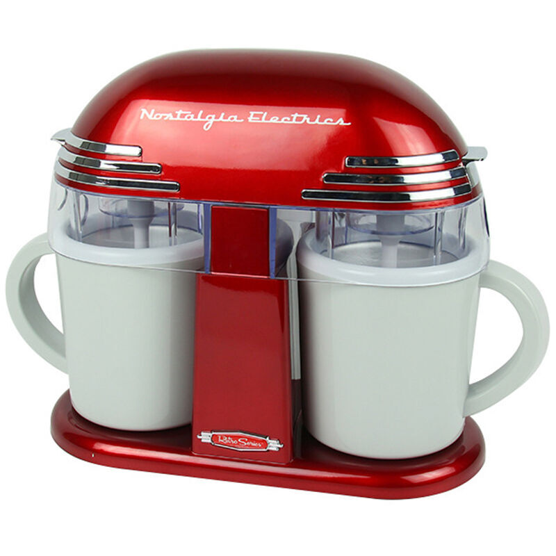 One-button Start Household Automatic Classic Childrens Double Barrel Ice Cream Machine Icecream MakerOne-button Start Household Automatic Classic Childrens Double Barrel Ice Cream Machine Icecream Maker
