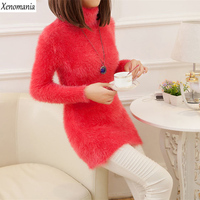 Christmas Sweater Pull Femme 2016 Korean Autumn Winter Knitted Oversized Sweaters Turtleneck Jumper Sueter Mujer Pullover