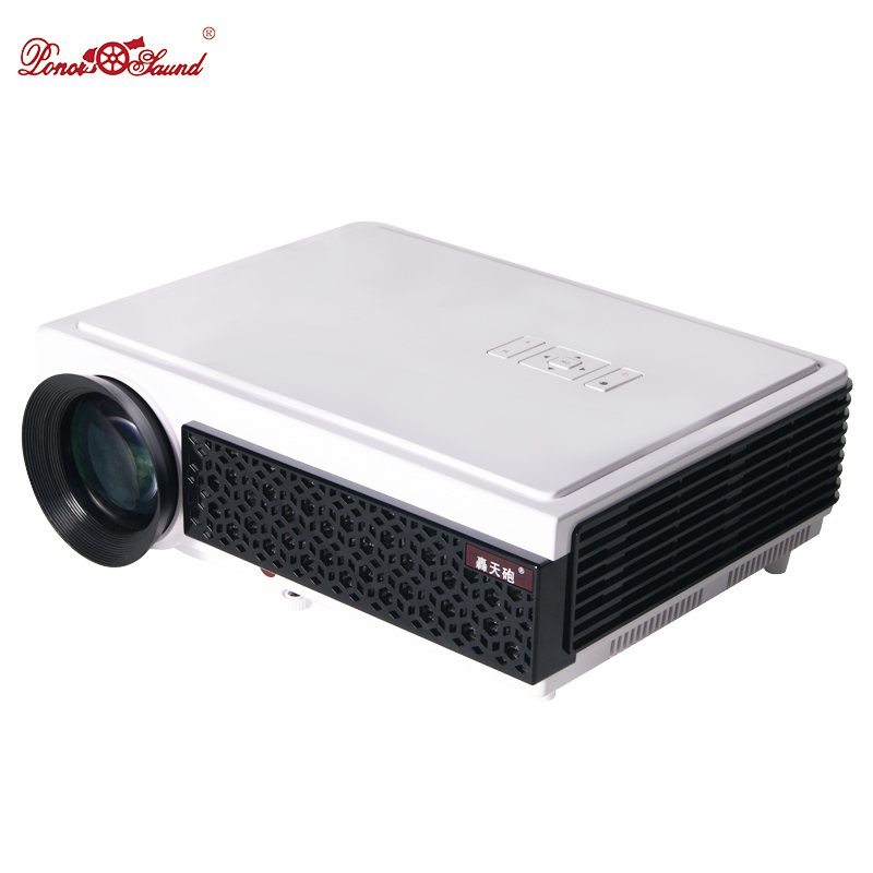 Poner Saund Led Hd Projector 5500 Lumens Beamer 1080p Lcd: LED Projector Home Cinema 100 Inches Screen As Gift Full