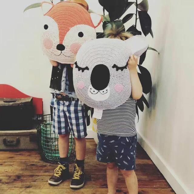 Quarto do bebê Kawaii travesseiro coussin bebek almofadas travesseiros coelho urso meninos meninas brinquedos presente travesseiro crianças cama coussin enfant