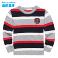 2016 Winter  100% cotton stripe pullover boy sweater