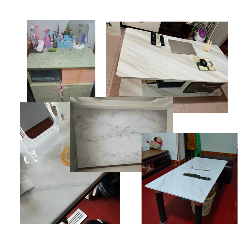 Marble Vinyl Film Self Adhesive Waterproof Wallpaper for Bathroom Kitchen Cupboard Countertops Contact Paper PVC Wall Stickers in Wallpapers from Home Improvement