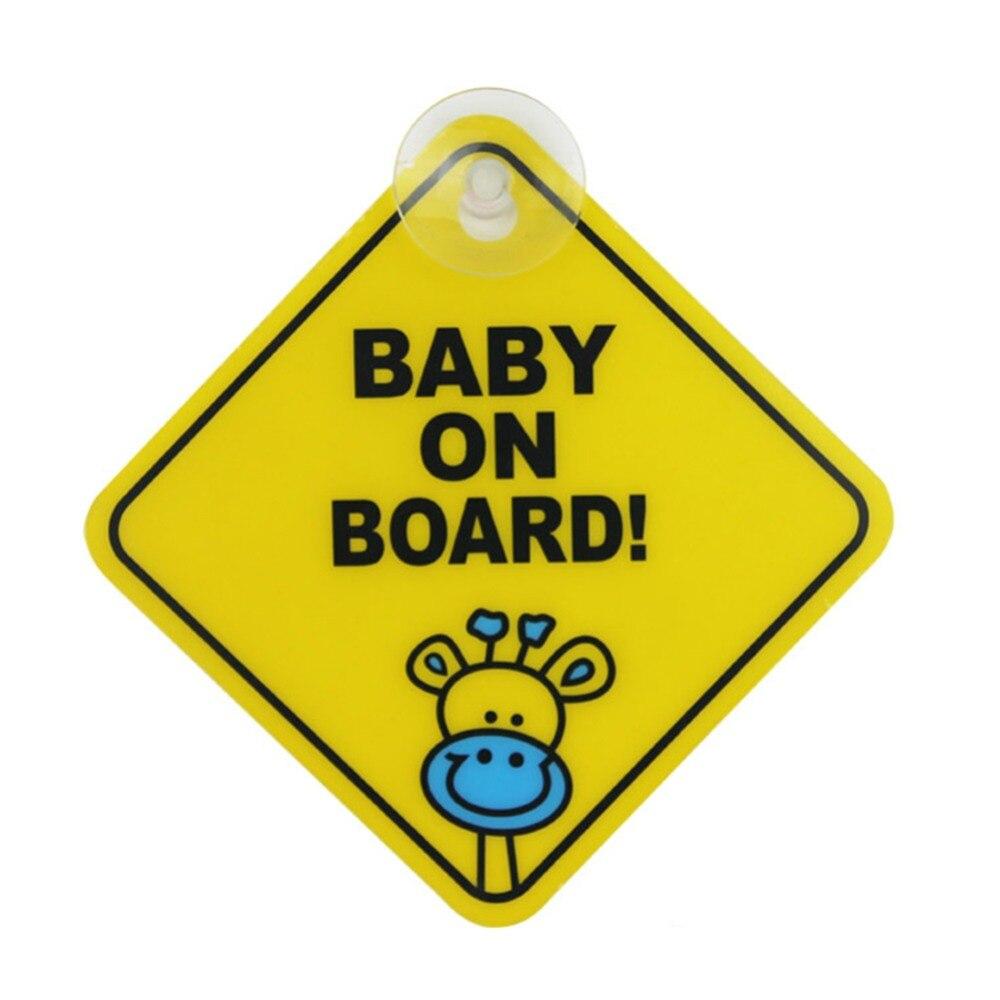 2 шт. ребенок на борту/в автомобиль ПВХ sucked Тип предупреждающий знак, этикетка сзади windows предупреждение безопасности доска объявлений стике...