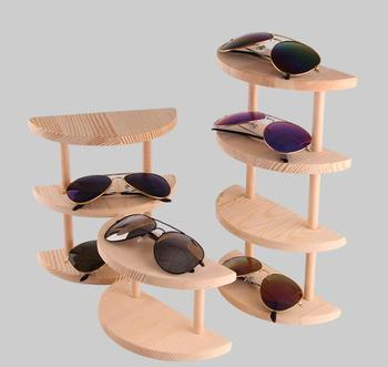 полукруглый деревянная подставка для солнцезащитных очков