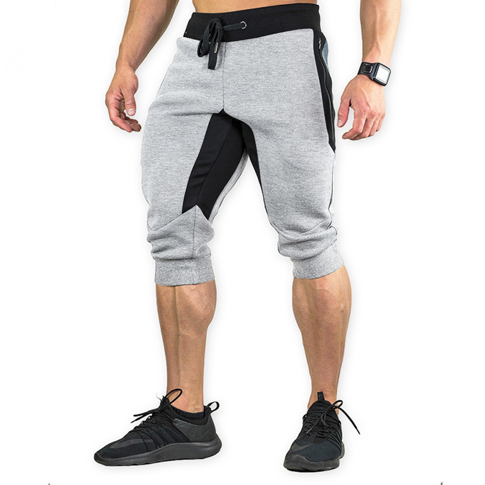 New Fashion Mens Baggy Jogger Casual Slim Harem Short Slacks Casual Soft Cotton 7 Points Trousers Workout Shorts Men Sporting
