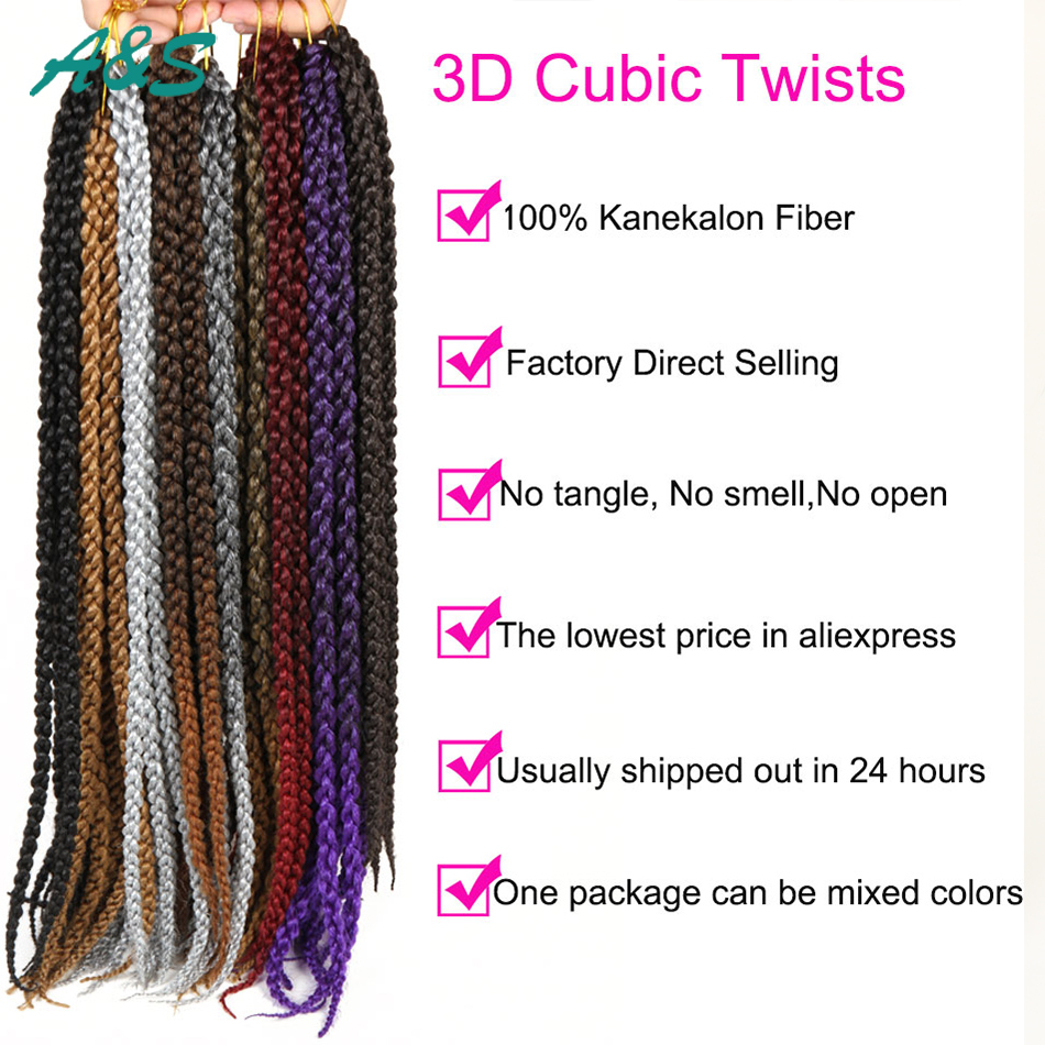 Exquisito peinado 12 colores 12 filamentos/pcs 4x trenzas xpression ...
