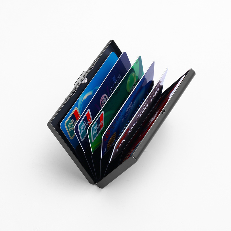 Stainless Steel Card Holder Credit Card Wallet Men Business Rfid ...