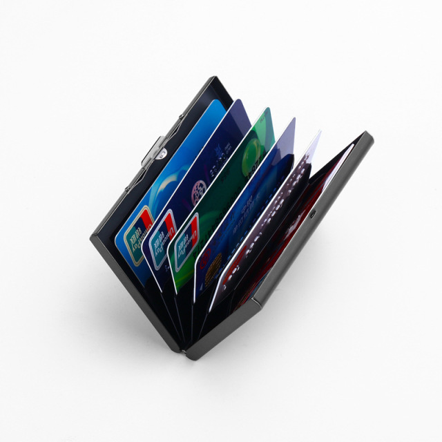 Stainless Steel Card Holder Credit Card Wallet Men Business Rfid Metal Travel Wallet Men Credit ID Card Holder