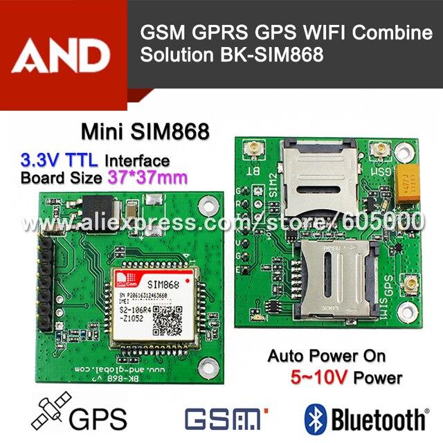 SIM868 GSM GPRS GPS BT CELLULAR MODULE,MINI SIM868 board SIM868 breakout board,instead of SIM808 free shipping 1pc