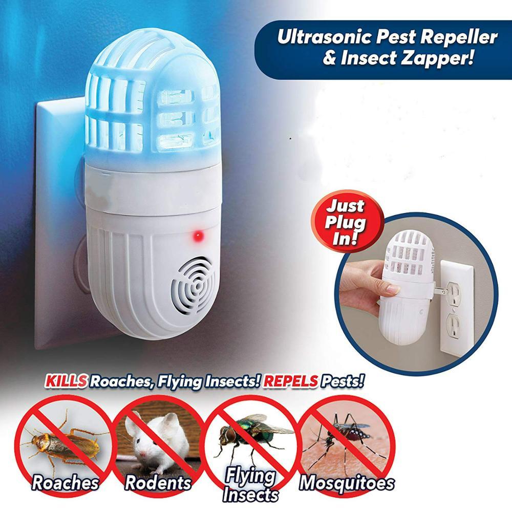 Repellent Atomic Bug Zapper Ultrasonic Pest Repeller Insect killer US Plug Hot