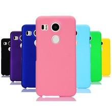 Phone Case sFor Fundas LG Google Nexus 5X case For Coque  Candy Color Hard plastic PC cover phone cases