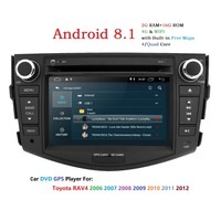 Android 8,1 7 2Din Универсальный Авторадио сенсорный экран GPS; Мультимедийный проигрыватель для TOYOTA RAV4 2006 2007 2008 2009 2010 2011 2012