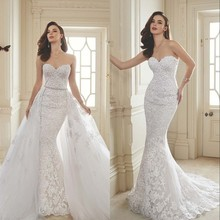 Fnoexw Sweetheart 1 Wedding Dresses Detachable Train