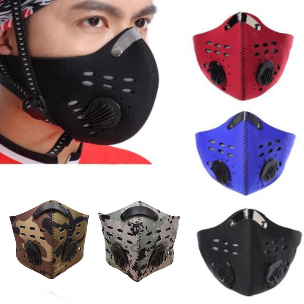 Anti-pollution Training Mask Trenirovochnaya Mask Cycling Face Masks With Filter Half Face Carbon Running Sports Mask Anti Dust