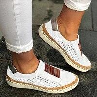 Sans lacet Sneaker femme dames chaussures décontractées confortable dame mocassins femmes