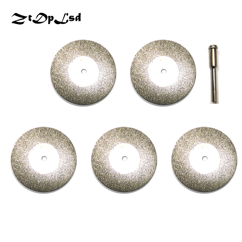 ZtDpLsd 5 Pcs 40mm Diamond Cutting Discs Cut Off Blade For Dremel Rotary Tool Abrasive Disc Dremel Accessories Disco De Corte