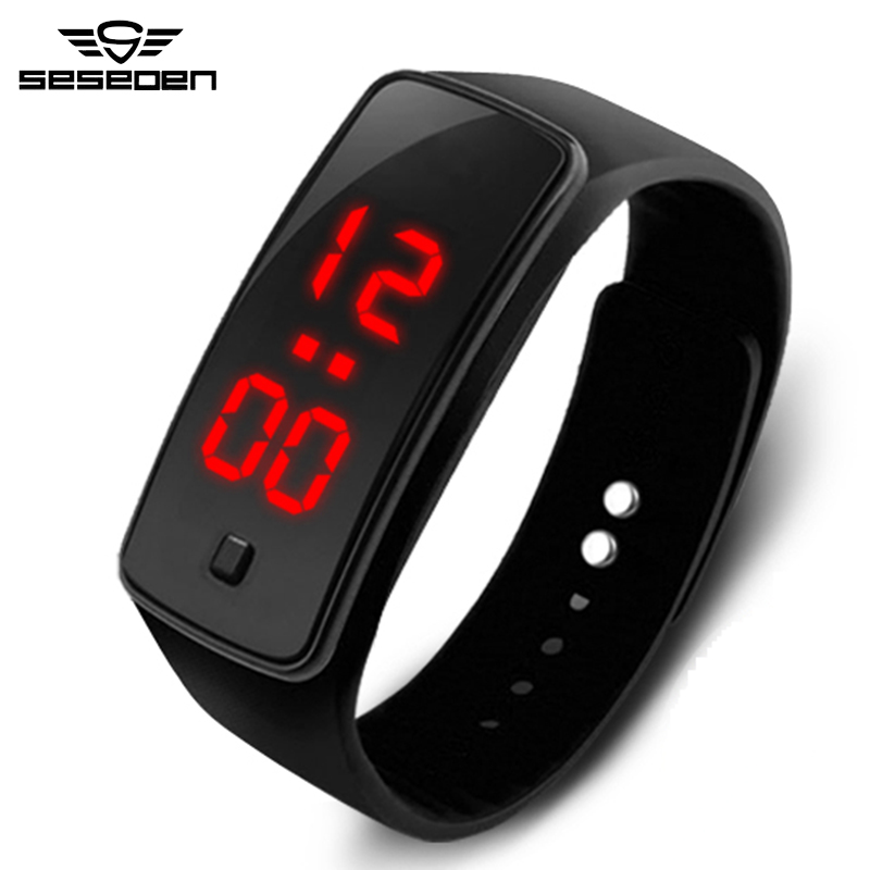 Kids Women Men LED Bracelet Silicone Date Digital Outdoor Sport Clock Watch Wristwatch Toy Birthday Gift Boy Girls Drop Shipping drop shipping gift boys girls students time clock electronic digital lcd wrist sport watch july12