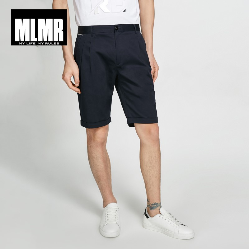 MLMR Men's Straight Fit Stretch Pure Color Thin Casual Shorts Basic M|218215519