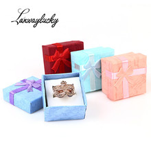 4x4x2.6cm Necklace Earrings Ring Packaging Jewelry Paper Gift Box Accessories Packaging Paper Bag Pouches For Women Jewelry Gift недорого