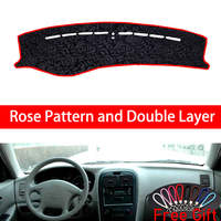Rose Pattern For kia optima 2005 Dashboard Cover Car Stickers Car Decoration Car Accessories Interior Car Decals